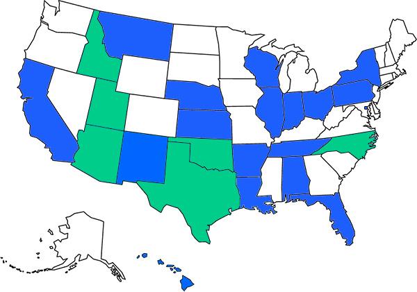 ClassWallet School Districts Map